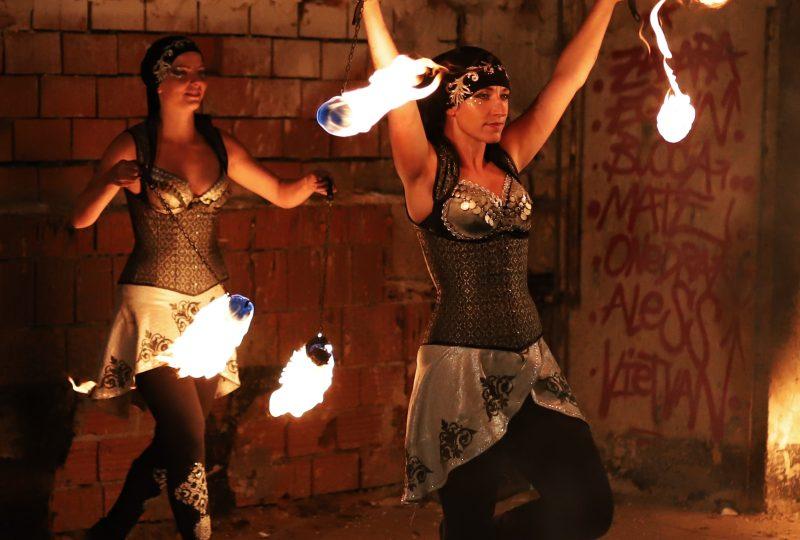 Ilusias - flaming art show